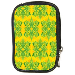 Floral Flower Star Sunflower Green Yellow Compact Camera Cases by Alisyart