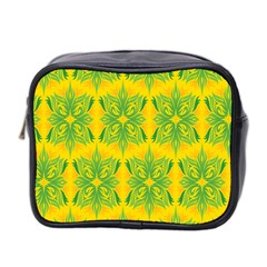 Floral Flower Star Sunflower Green Yellow Mini Toiletries Bag 2 Side by Alisyart