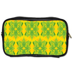 Floral Flower Star Sunflower Green Yellow Toiletries Bags 2 Side by Alisyart