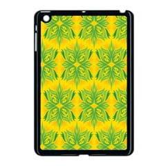 Floral Flower Star Sunflower Green Yellow Apple Ipad Mini Case (black) by Alisyart