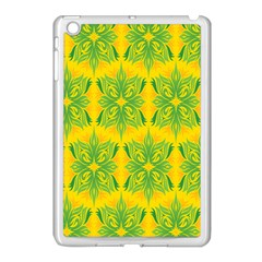 Floral Flower Star Sunflower Green Yellow Apple Ipad Mini Case (white) by Alisyart
