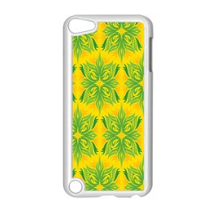Floral Flower Star Sunflower Green Yellow Apple Ipod Touch 5 Case (white) by Alisyart