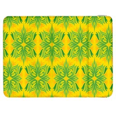 Floral Flower Star Sunflower Green Yellow Samsung Galaxy Tab 7  P1000 Flip Case