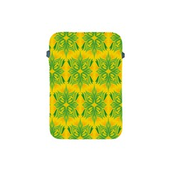 Floral Flower Star Sunflower Green Yellow Apple Ipad Mini Protective Soft Cases by Alisyart