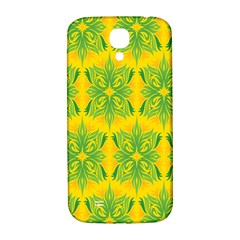 Floral Flower Star Sunflower Green Yellow Samsung Galaxy S4 I9500/i9505  Hardshell Back Case