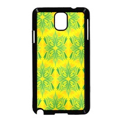 Floral Flower Star Sunflower Green Yellow Samsung Galaxy Note 3 Neo Hardshell Case (black) by Alisyart