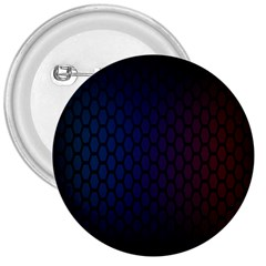Hexagon Colorful Pattern Gradient Honeycombs 3  Buttons by Simbadda