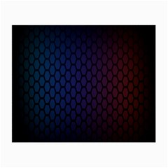 Hexagon Colorful Pattern Gradient Honeycombs Small Glasses Cloth (2 Side) by Simbadda