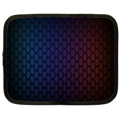 Hexagon Colorful Pattern Gradient Honeycombs Netbook Case (xl)  by Simbadda