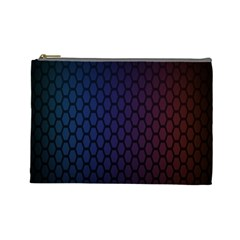 Hexagon Colorful Pattern Gradient Honeycombs Cosmetic Bag (large)  by Simbadda