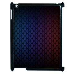 Hexagon Colorful Pattern Gradient Honeycombs Apple Ipad 2 Case (black) by Simbadda