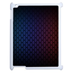 Hexagon Colorful Pattern Gradient Honeycombs Apple Ipad 2 Case (white) by Simbadda