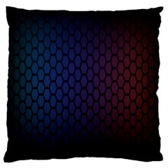 Hexagon Colorful Pattern Gradient Honeycombs Large Cushion Case (two Sides) by Simbadda