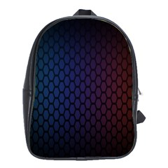 Hexagon Colorful Pattern Gradient Honeycombs School Bags (xl)