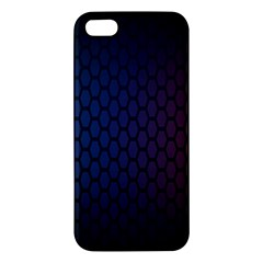 Hexagon Colorful Pattern Gradient Honeycombs Apple Iphone 5 Premium Hardshell Case