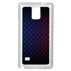 Hexagon Colorful Pattern Gradient Honeycombs Samsung Galaxy Note 4 Case (white) by Simbadda