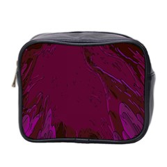 Abstract Purple Pattern Mini Toiletries Bag 2 Side by Simbadda