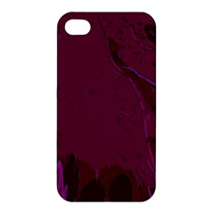 Abstract Purple Pattern Apple Iphone 4/4s Premium Hardshell Case by Simbadda