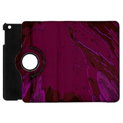 Abstract Purple Pattern Apple Ipad Mini Flip 360 Case by Simbadda