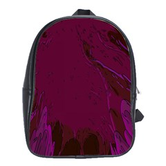 Abstract Purple Pattern School Bags (xl)  by Simbadda