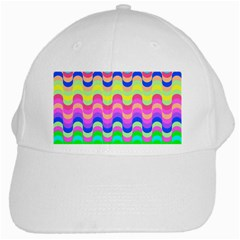 Dna Early Childhood Wave Chevron Woves Rainbow White Cap