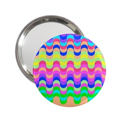 Dna Early Childhood Wave Chevron Woves Rainbow 2 25  Handbag Mirrors