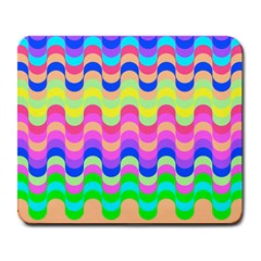 Dna Early Childhood Wave Chevron Woves Rainbow Large Mousepads by Alisyart
