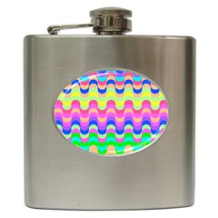 Dna Early Childhood Wave Chevron Woves Rainbow Hip Flask (6 Oz)