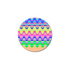 Dna Early Childhood Wave Chevron Woves Rainbow Golf Ball Marker (4 Pack) by Alisyart