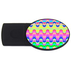 Dna Early Childhood Wave Chevron Woves Rainbow Usb Flash Drive Oval (2 Gb) by Alisyart