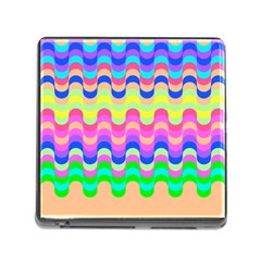 Dna Early Childhood Wave Chevron Woves Rainbow Memory Card Reader (square) by Alisyart