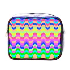 Dna Early Childhood Wave Chevron Woves Rainbow Mini Toiletries Bags by Alisyart