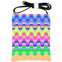 Dna Early Childhood Wave Chevron Woves Rainbow Shoulder Sling Bags by Alisyart