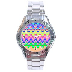 Dna Early Childhood Wave Chevron Woves Rainbow Stainless Steel Analogue Watch