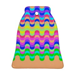 Dna Early Childhood Wave Chevron Woves Rainbow Bell Ornament (two Sides) by Alisyart