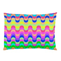 Dna Early Childhood Wave Chevron Woves Rainbow Pillow Case (two Sides)