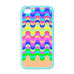 Dna Early Childhood Wave Chevron Woves Rainbow Apple Iphone 4 Case (color) by Alisyart