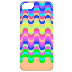 Dna Early Childhood Wave Chevron Woves Rainbow Apple Iphone 5 Classic Hardshell Case by Alisyart