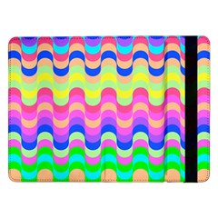 Dna Early Childhood Wave Chevron Woves Rainbow Samsung Galaxy Tab Pro 12 2  Flip Case by Alisyart