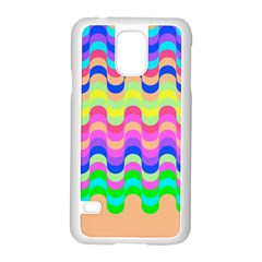 Dna Early Childhood Wave Chevron Woves Rainbow Samsung Galaxy S5 Case (white)
