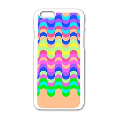 Dna Early Childhood Wave Chevron Woves Rainbow Apple Iphone 6/6s White Enamel Case by Alisyart