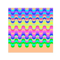 Dna Early Childhood Wave Chevron Woves Rainbow Small Satin Scarf (square)