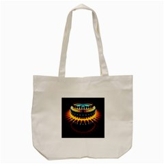 Abstract Led Lights Tote Bag (cream) by Simbadda