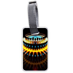 Abstract Led Lights Luggage Tags (one Side)  by Simbadda