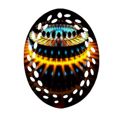 Abstract Led Lights Ornament (oval Filigree)