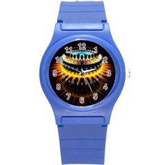 Abstract Led Lights Round Plastic Sport Watch (s) by Simbadda