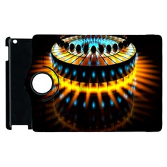 Abstract Led Lights Apple Ipad 3/4 Flip 360 Case by Simbadda