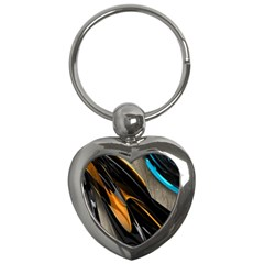 Abstract 3d Key Chains (heart)