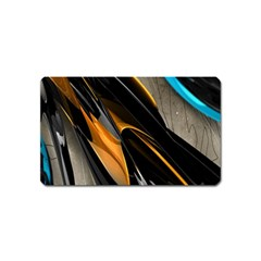 Abstract 3d Magnet (name Card)