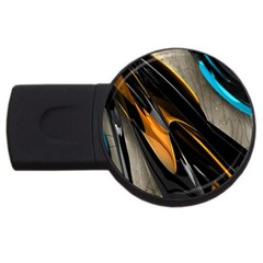 Abstract 3d Usb Flash Drive Round (4 Gb) by Simbadda